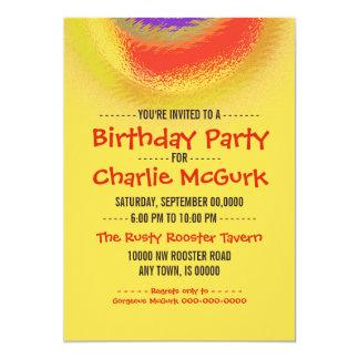 Invitación de la fiesta de cumpleaños del eclipse