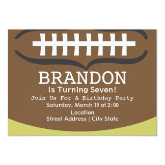 Invitación de la fiesta de cumpleaños del fútbol invitación 12,7 x 17,8 cm
