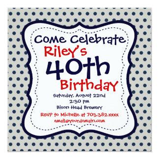 Invitación de la fiesta de cumpleaños del gris del