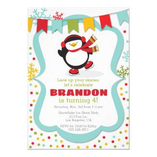 Invitación de la fiesta de cumpleaños del invierno