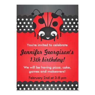 Invitación de la fiesta de cumpleaños del lunar de
