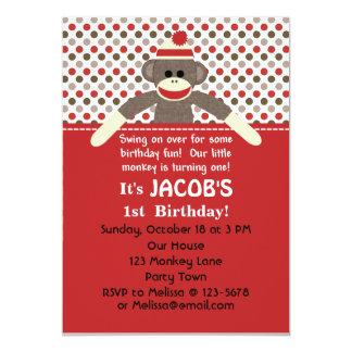 Invitación de la fiesta de cumpleaños del mono del