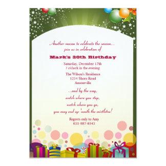 Invitación de la fiesta de cumpleaños del navidad