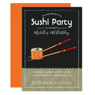 Invitación de la fiesta de cumpleaños del sushi