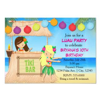 Invitación de la fiesta de cumpleaños del tiki de