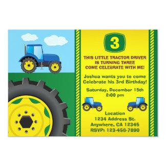 Invitación de la fiesta de cumpleaños del tractor