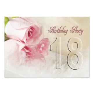 Invitación de la fiesta de cumpleaños por 18 años