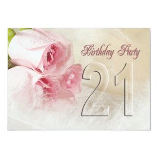 Invitación de la fiesta de cumpleaños por 21 años