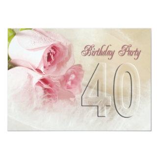 Invitación de la fiesta de cumpleaños por 40 años