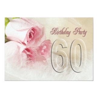 Invitación de la fiesta de cumpleaños por 60 años