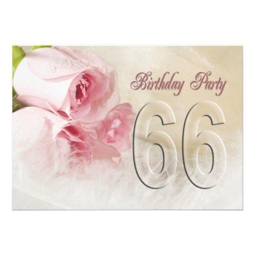 Invitación de la fiesta de cumpleaños por 66 años