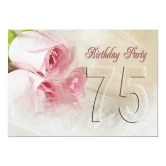 Invitación de la fiesta de cumpleaños por 75 años