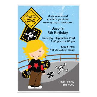 Invitación de la fiesta de cumpleaños que anda en