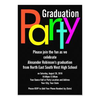 Invitación de la fiesta de graduación de Brights
