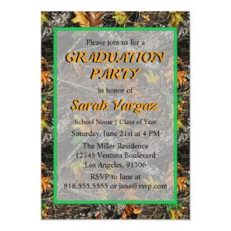 Invitación de la fiesta de graduación de Camo