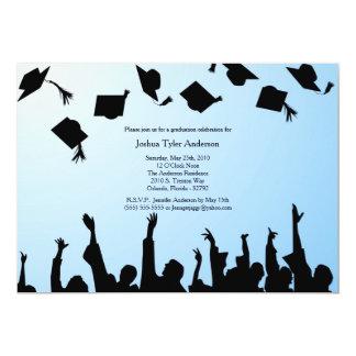 Invitación de la fiesta de graduación de la invitación 12,7 x 17,8 cm