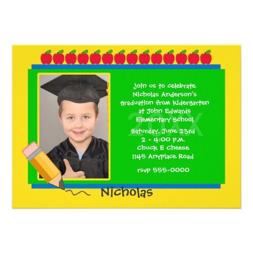 Invitación de la fiesta de graduación de la foto d