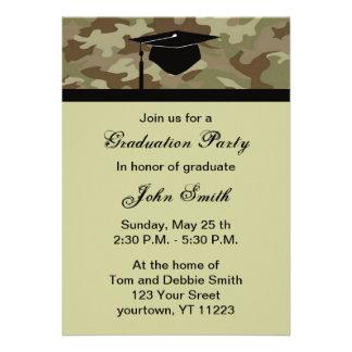 Invitación de la fiesta de graduación del camuflaj