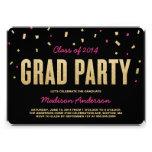 Invitación de la fiesta de graduación del lanzamie