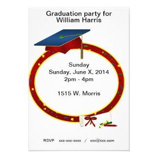 Invitación de la fiesta de graduación del niño jov