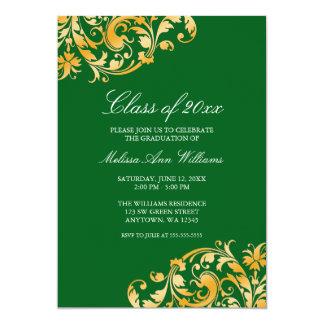 Invitación de la fiesta de graduación del remolino invitación 12,7 x 17,8 cm