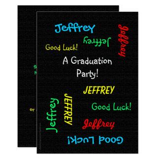 Invitación de la fiesta de graduación, falsa