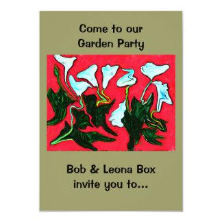 invitación de la fiesta de jardín
