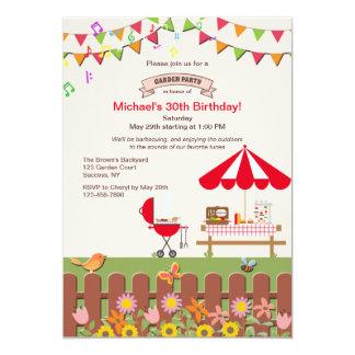 Invitación de la fiesta de jardín del patio