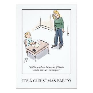 Invitación de la fiesta de Navidad Invitación 11,4 X 15,8 Cm