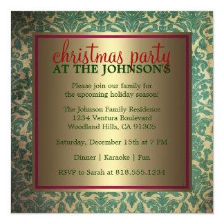 Invitación de la fiesta de Navidad de la familia