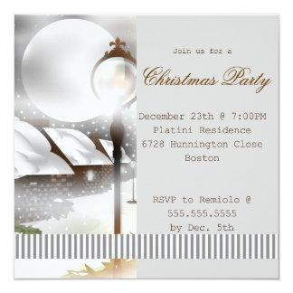 Invitación de la fiesta de Navidad de la noche de