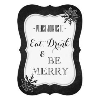 Invitación de la fiesta de Navidad de la pizarra