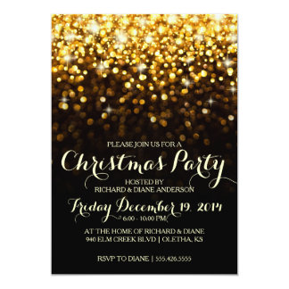Invitación de la fiesta de Navidad del confeti del