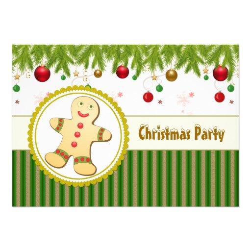 Invitación de la fiesta de Navidad del hombre de p