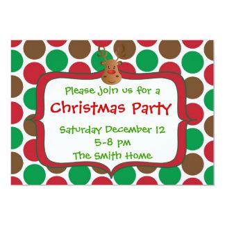 Invitación de la fiesta de Navidad del reno -