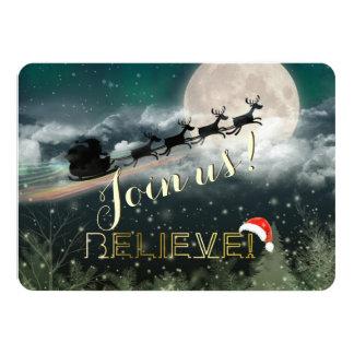 Invitación de la fiesta de Navidad del reno del