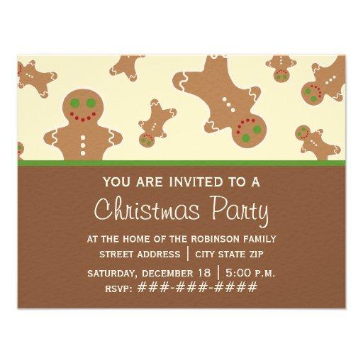 Invitación de la fiesta de Navidad - hombre de pan
