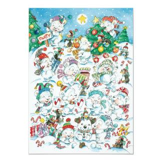 Invitación de la fiesta de Navidad - osos polares Invitación 12,7 X 17,8 Cm