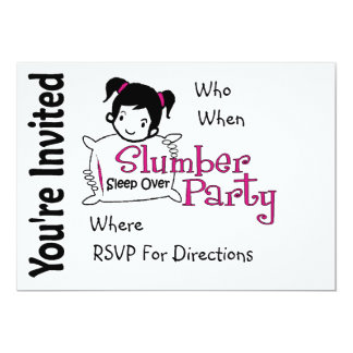 Invitación de la fiesta de pijamas