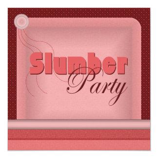 Invitación de la fiesta de pijamas de la almohada