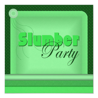Invitación de la fiesta de pijamas de la almohada invitación 13,3 cm x 13,3cm