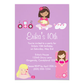 Invitación de la fiesta de pijamas de los chicas