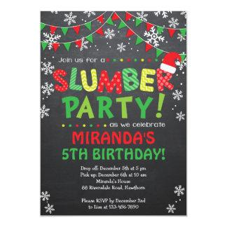Invitación de la fiesta de pijamas del navidad