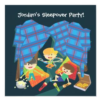 Invitación de la fiesta de pijamas del Sleepover