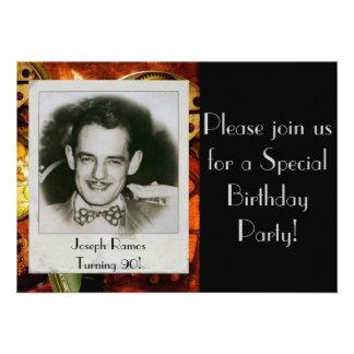 Invitación de la fiesta del cumpleaños de los homb