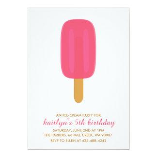 Invitación de la fiesta del cumpleaños del helado