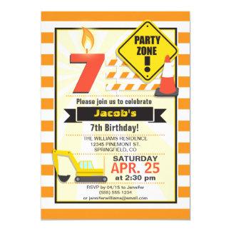 Invitación de la fiesta del cumpleaños del niño invitación 12,7 x 17,8 cm