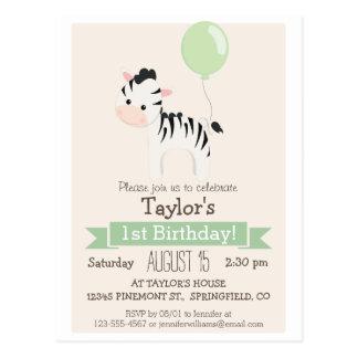 Invitación de la fiesta del cumpleaños del niño de postal