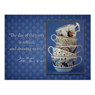 Invitación de la fiesta del té de Jane Austen