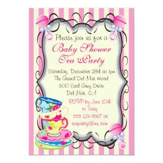 Invitación de la fiesta del té del Victorian de la
